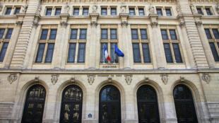 La nouvelle Sorbonne de Nénot, entrée principale, rue des Écoles.