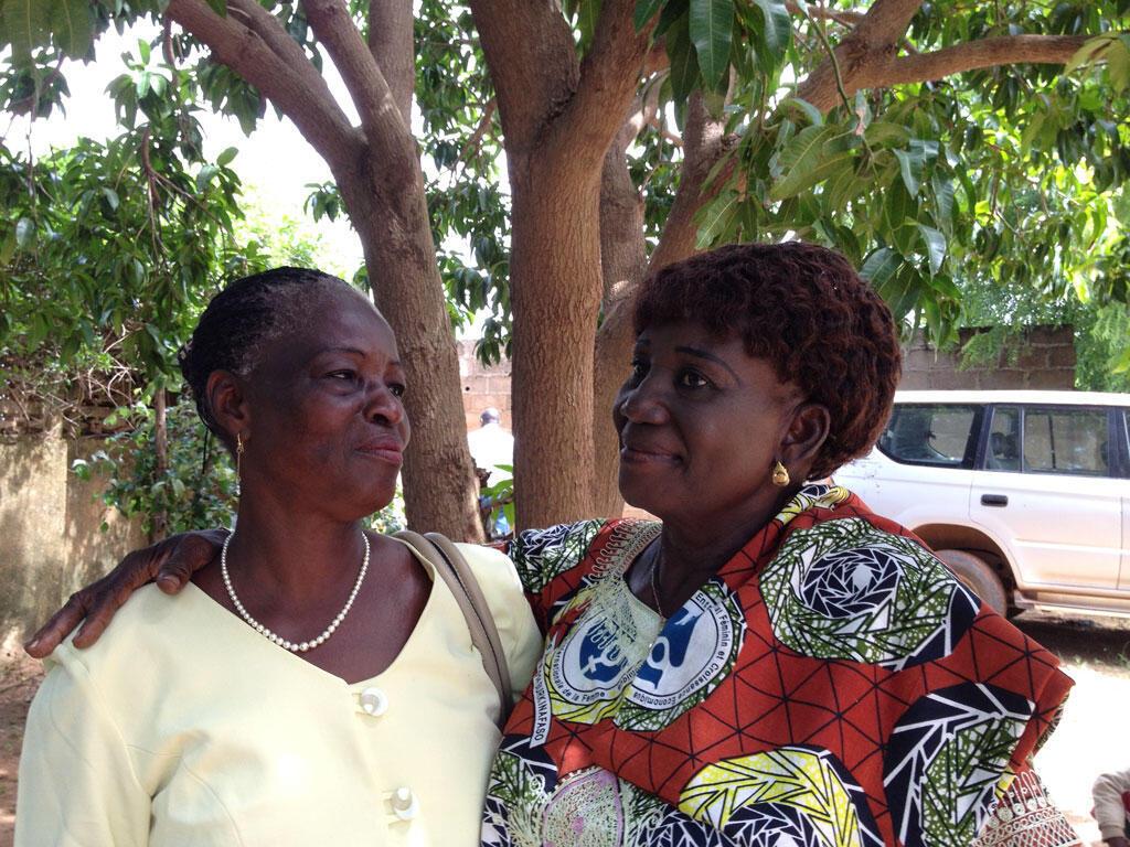 Germaine Pitroipa et Marie-Thérèse Sandwidi à Koupéla, Burkina Faso.
