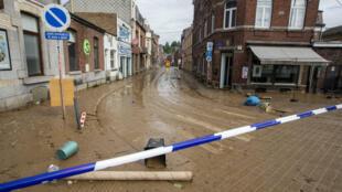 Inondations dans la ville de Namur en Belgique