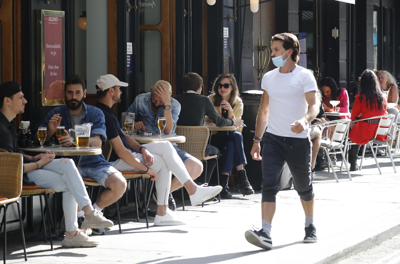 Terrasse d'un restaurant à Londres, le 3 août 2020. (Image d'illustration)