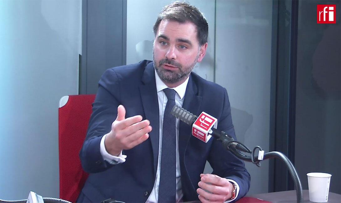 Laurent Saint-Martin, député LaREM du Val-de-Marne dans les studios de RFI, le 3 mars 2020.