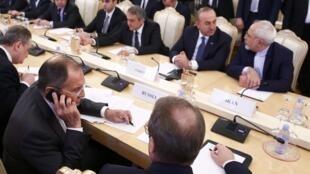 Cuộc họp ba bên Nga, Thổ Nhĩ Kỳ và Iran cấp ngoại trưởng tại Matxcơva, Nga 20/12/2016.