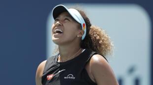 Japan's world No. 2 Naomi Osaka on the way to a quarter-final loss to Greece's Maria Sakkari