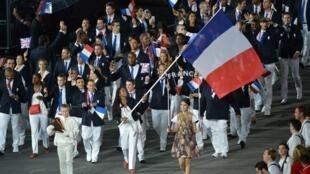 La délégation française lors des JO de Londres en 2012.