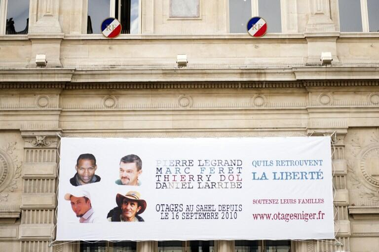 Friends, family mark 3rd year of hostages capture, Paris, 16 September, 2013