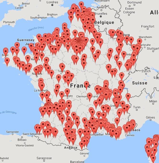 Cartographie des affaires de corruption en France, par l'ONG Transparency International.