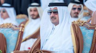 L'émir du Qatar, le cheick Tamin ben Hamad al-Thani, le 18 décembre 2017.