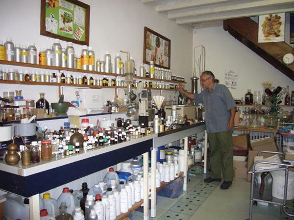 Michael Moisseeff dans son laboratoire