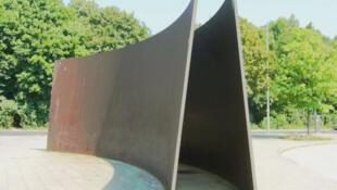 A Berlin, le monument à la mémoire des handicapés mentaux exterminés en Allemagne sous le régime nazi.