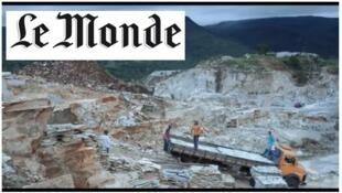 """Matéria do jornal Le Monde é ilustrada com uma cena do filme """"Mascarados"""", de Marcela e Henrique Borela."""