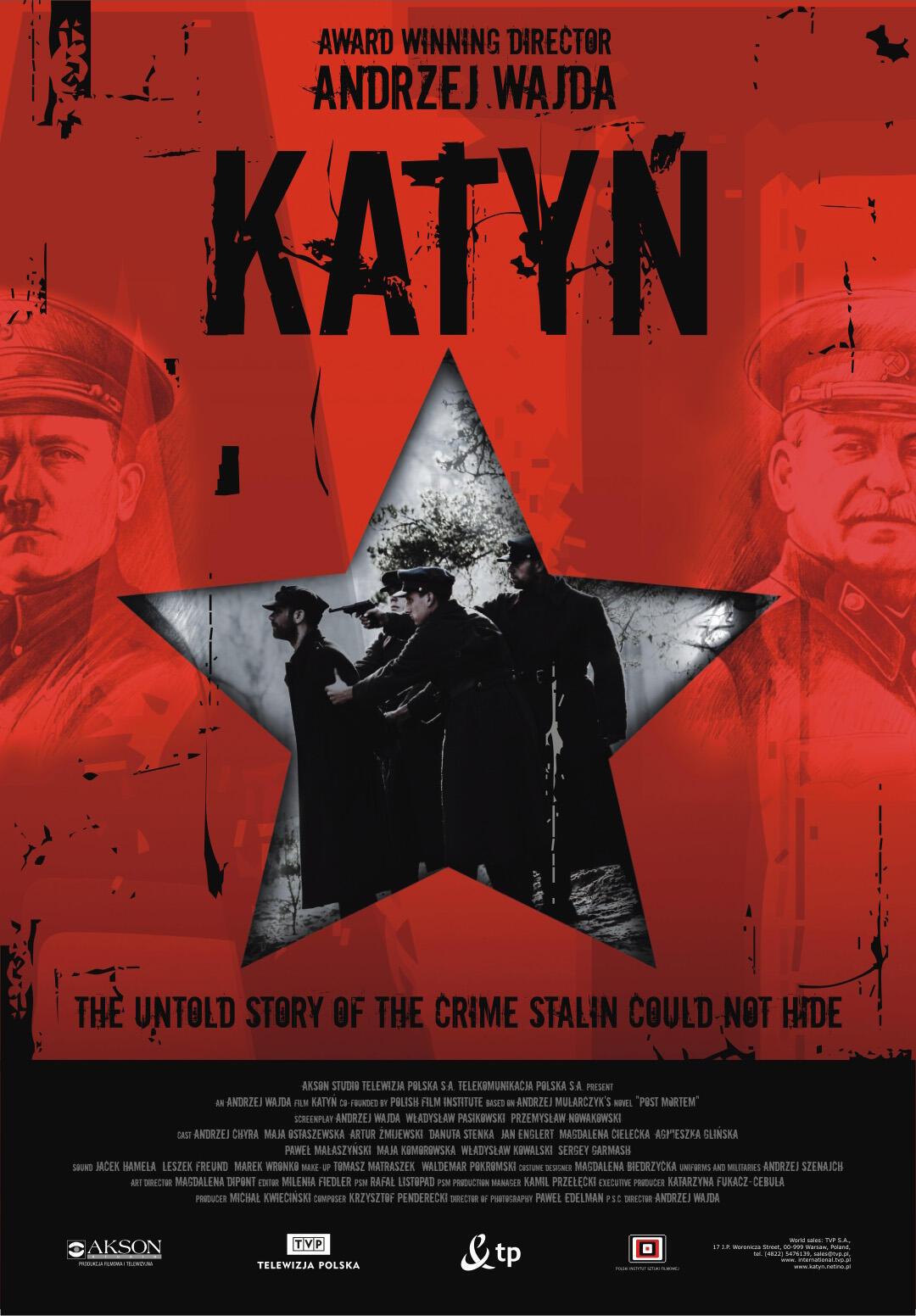 Фильм Анджея Вайды «Катынь» (2007) был впервые показан по российскому ТВ 2 апреля 2010.