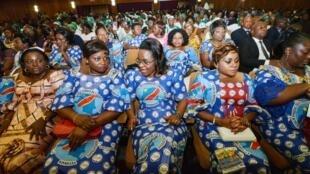 Les participantes au 2e Forum mondial des femmes francophones à Kinshasa, le 3 mars 2014.