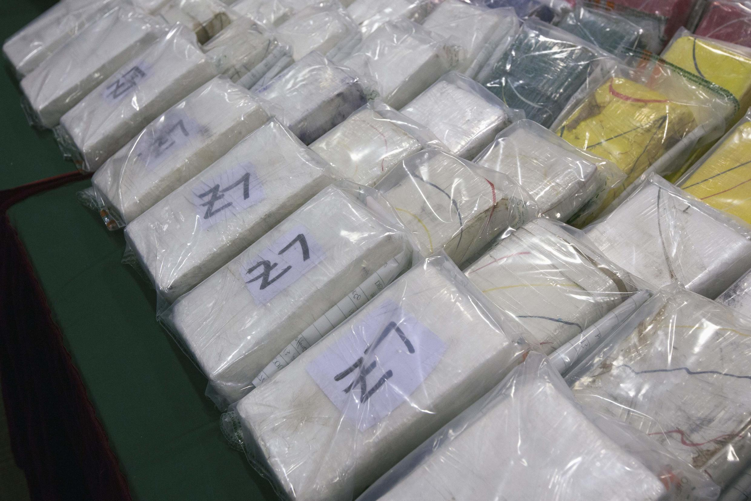 Cocaine seized by customs officers