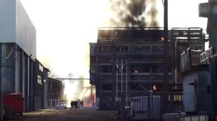 The plant after the explosion on Saturday