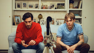 Gabriel D'Almeida Freitas and Xavier Dolan in Matthias and Maxime, directed by Xavier Dolan