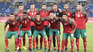 L'équipe du Maroc lors de la CAN 2017.