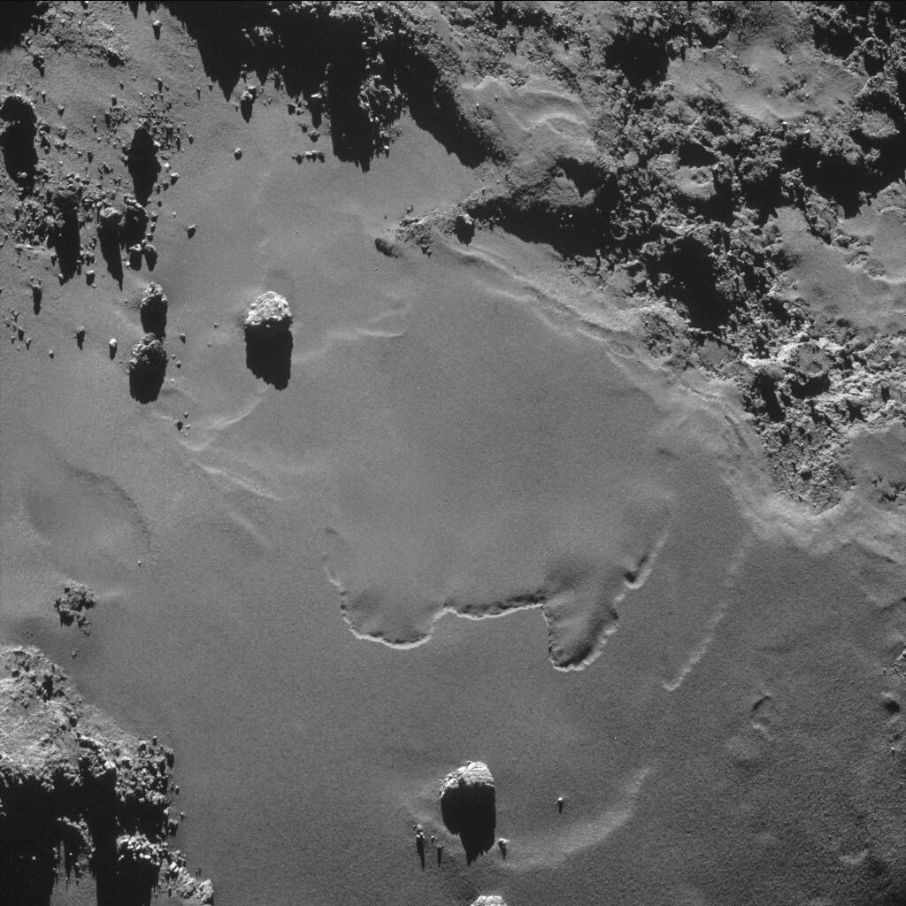 O robô Philae mandou imagem logo após se desprender da sonda Rosetta.