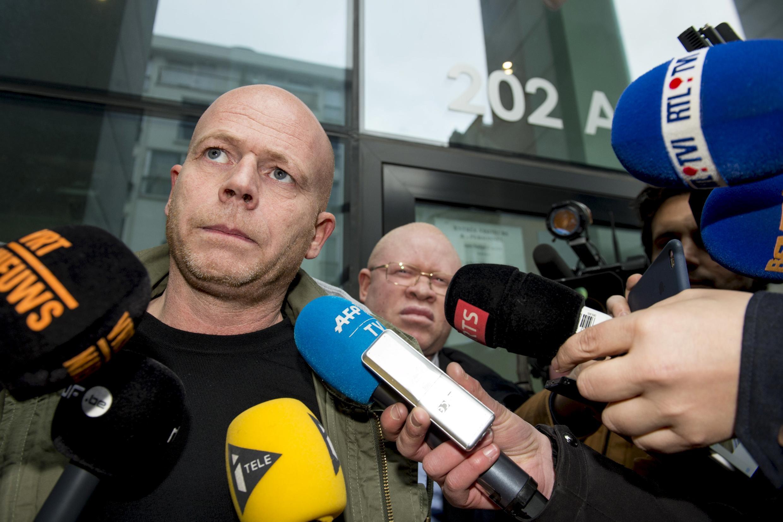 Luật sư Sven Mary người Bỉ của nghi phạm khủng bố Salah Abdeslam,  tại Bruxelles ngày 19/03/2016.