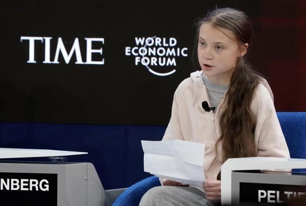 Грета Тунберг на открытии Всемирного экономического форума в Давосе, 21 января 2020 года