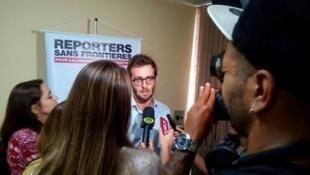 Emmanuel Colombié, diretor para a América Latina da ONG Repórteres Sem Fronteiras, durante entrevista coletiva no Rio de Janeiro