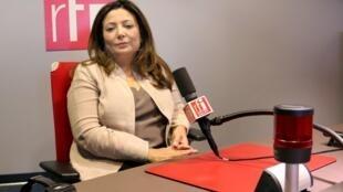 Ouided Bouchamaoui, présidente de l'Union tunisienne de l'industrie, du commerce et de l'artisanat, l'UTICA.