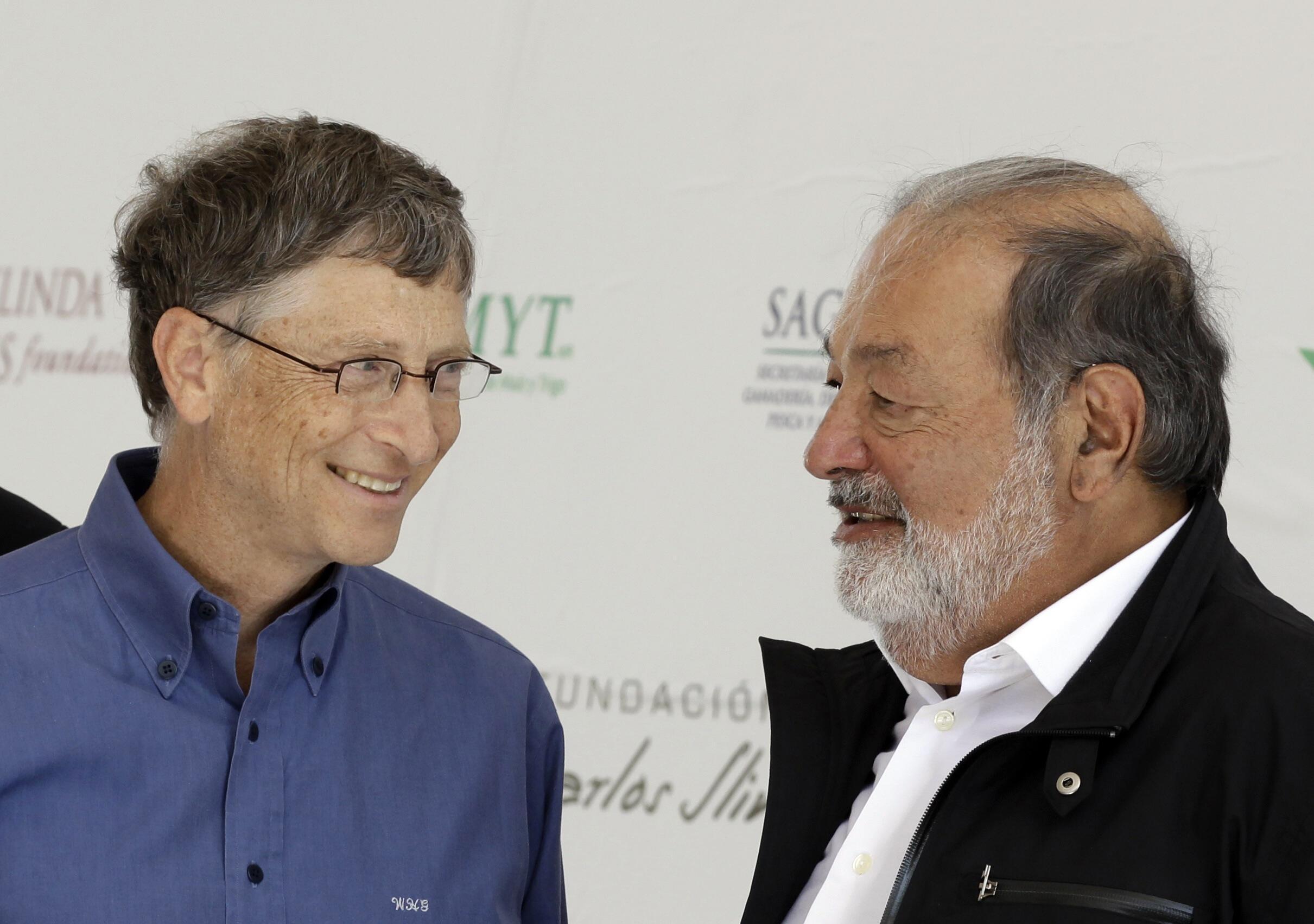 El empresario mexicano Carlos Slim y el fundador de Microsoft, Bill Gates.