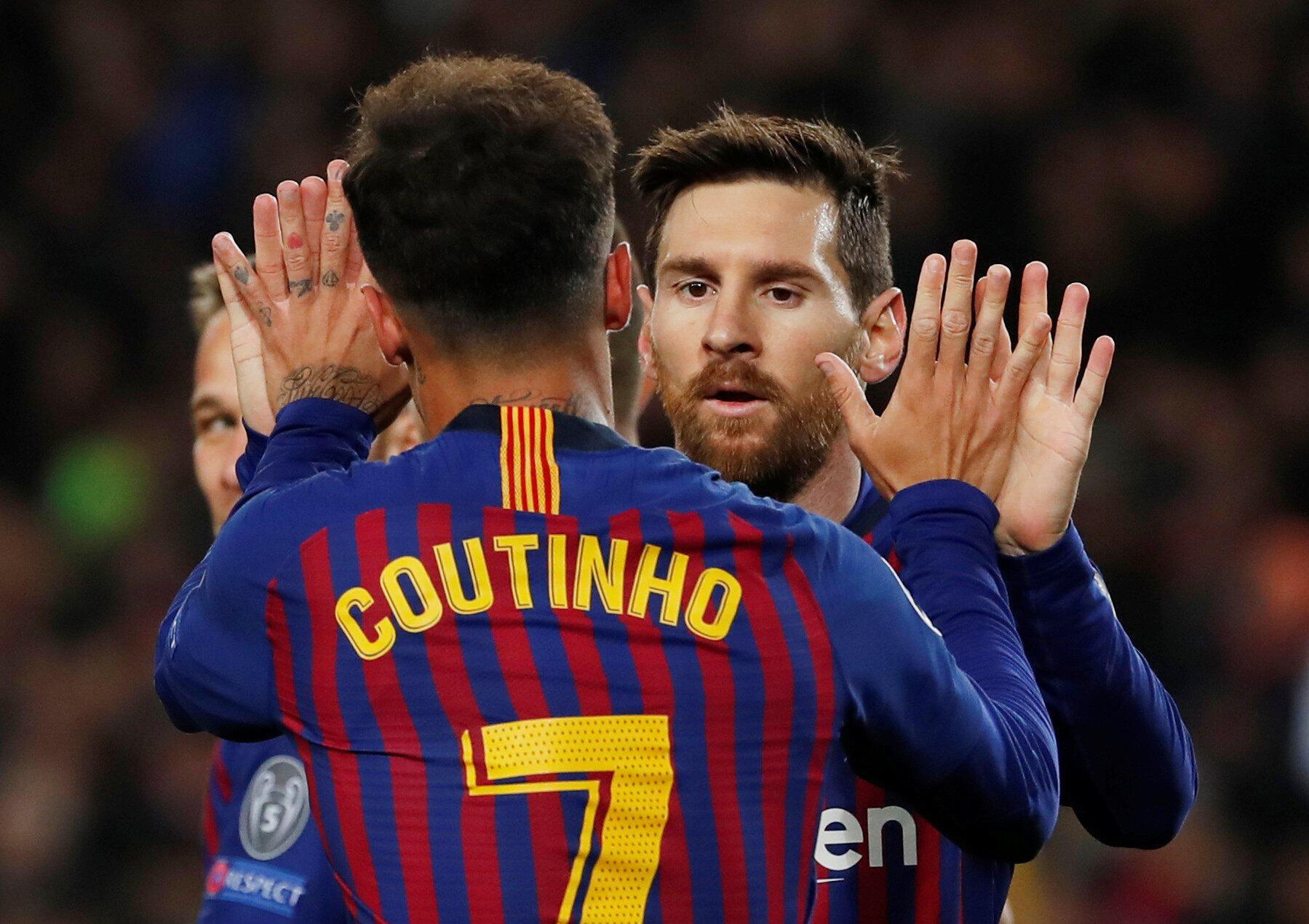 O Brasileiro Philippe Coutinho, com um golo, e o Argentino Lionel Messi, com dois tentos, participaram no triunfo por 5-1 do FC Barcelona frente ao Lyon.