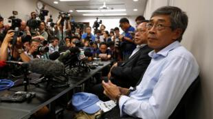 香港铜锣湾书店店长林荣基6月16日举行记者会公布自己被失踪真相
