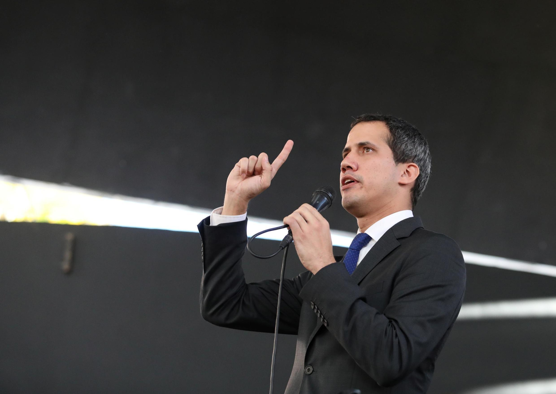 Le leader d'opposition, Juan Guaido, à Caracas lors d'une conférence de presse le 7 janvier 2020.