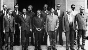 Wasu daga cikin shugabannin Afrika da suka kafa kungiyar kasashen nahiyar OAU birnin Addis Ababa na Habasha a shekarar 1963, ciki har da shugaban kasar Ghana Kwame Nkrumah da kuma shugaban Habasha a waccan lokaci, Sarkin Sarakuna Haile Selassie na 1