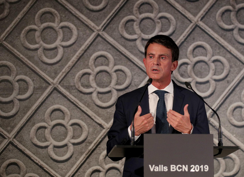 Ông Manuel Valls tuyên bố ứng cử thị trưởng Barcelona, ngày 25/09/2018.