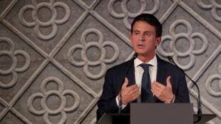 Manuel Valls annonce sa candidature à la mairie de Barcelone, le 25 septembre 2018.