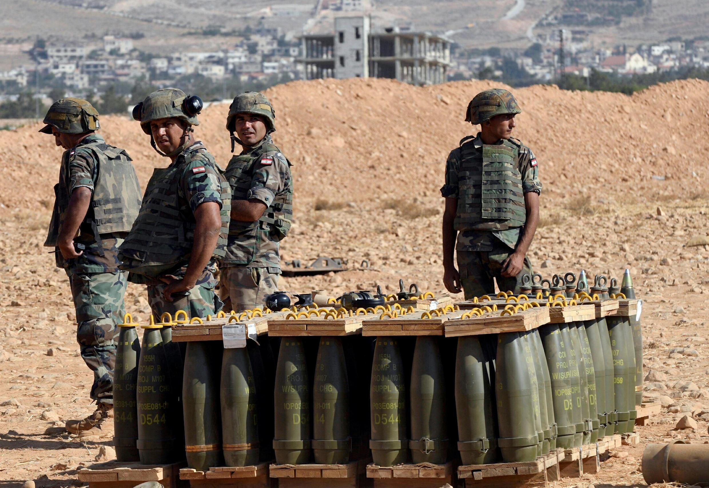Des soldats libanais à Ras Baalbek, le 17 août 2017.