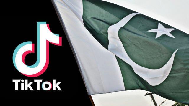 抖音國際版TikTok與巴基斯坦國旗資料圖片