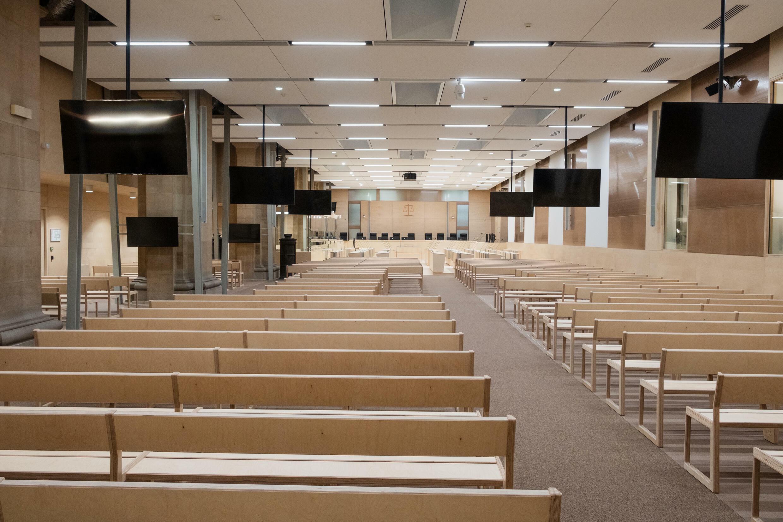intérieur salle procès 13 novembre