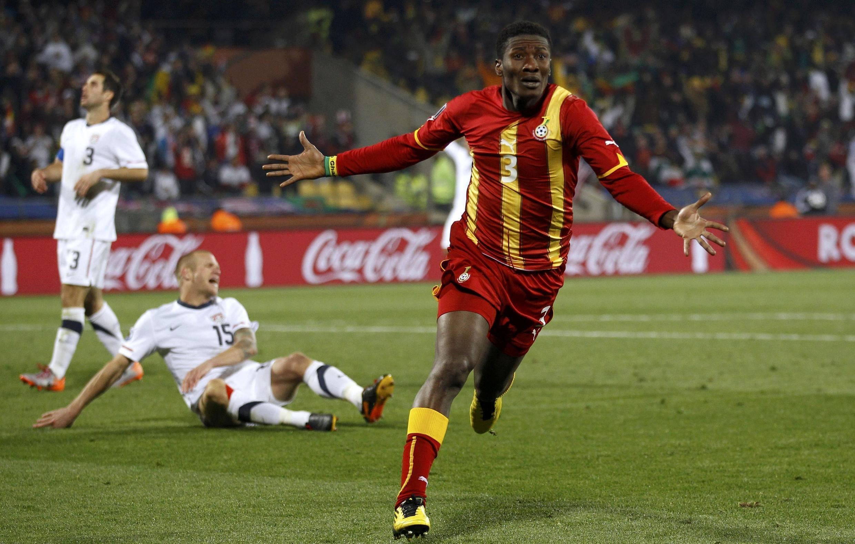 Asamoah Gyan incarne l'efficacité du Ghana.