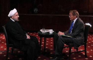 حسن روحانی درگفتوگو با شبکه خبری پی.بی.اس آمریکا