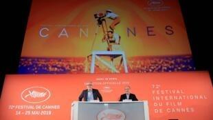 Thierry Frémaux y Pierre Lescure, responsables del Festival de cine de Cannes.