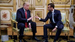 Presidente americano, Donald Trump recebido no Eliseu pelo homólogo francês, Emmanuel Macron, por ocasião dos 100 anos do fim da guerra mundial de 14-18