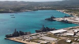 La base navale américaine de Guam, dans le port d'Apra.