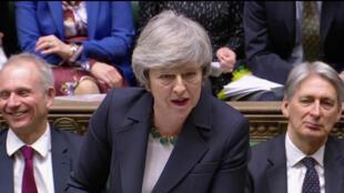 La Première ministre Theresa May devant le Parlement britannique, le 13 février 2019.