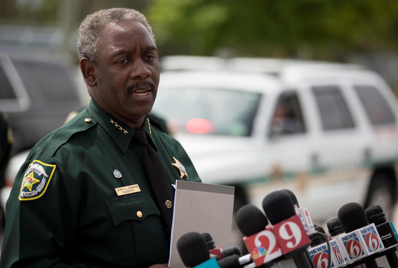 Jerry Demings, xerife do Condado de Orange, em Orlando, na Flórida, durante coletiva de imprensa, em 5 de junho de 2017.