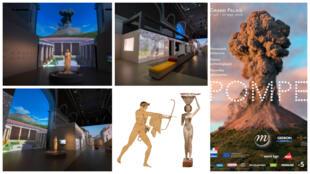 Além da exposição que fica em cartaz até 27 de setembro, o Grand Palais de Paris disponibiza em seu site passeios virtuais por Pompeia.