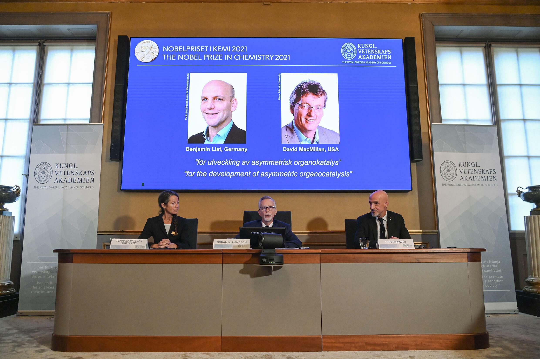 Benjamin List and David MacMillan, both 53, will share the 10-million-kronor ($1.1-million, one-million-euro) Nobel Chemistry Prize