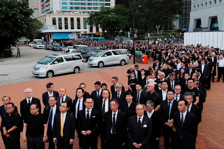 2019年香港律师及法律从业人士参加反修例示威活动资料图片