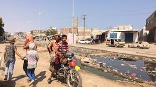 Le quartier d'al Mim Darah à Aden, 2018.