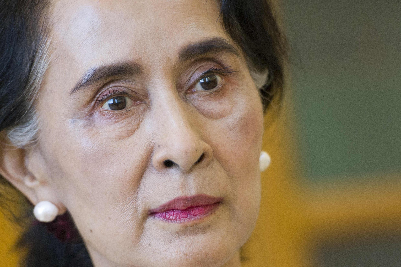 Aung San Suu Ky, durante una entrevista en el Parlamento de Naipyidó, el 25 de agosto de 2015 en la capital birmana
