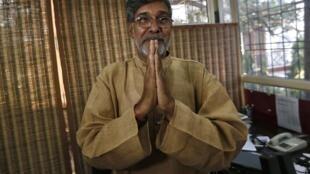 Ông Kailash Satyarthi, người Ấn Độ, đồng giải Nobel Hòa bình 2015.