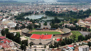 Le stade municipal de Mahamasima à Antananarivo.
