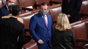 senateur Ted Cruz - Texas. Photo 6/01/2021- au Congres